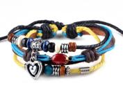 Fashion Handmade Leather Bracelets Wristband Charms