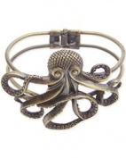 Antique Gold Metal Octopus Bracelet
