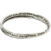 Heirloom Finds Mothers and Daughters Share an Everlasting Bond Silver Tone Twist Bangle Bracelet