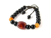 Tibetan Beaded Bracelet with Agate and dZi Beads