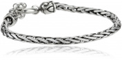"""Zina Sterling Silver """"Signature Swirl"""" Toggle Bracelet with Woven Chain, 19.1cm"""