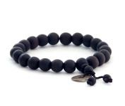 9mm Peach Wood Beads Tibetan Buddhist Prayer Wrist Mala Bracelet