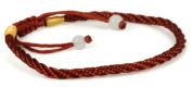 Luos Brown Handmade String Bracelet with 2 Jade Beads -St019
