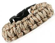 Paracord Survival Bracelet - Desert Camoflage - 19.1cm - Para03
