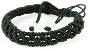 Luos Handmade Black String Bracelet(crossing Over) for Healing- St031