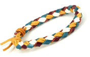LUOS Fashion Leather and String Bracelet - L014
