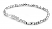 Silver Plated stretchable bead Bracelet with moustache charm.