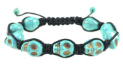 Howlite Turquoise Skull Bracelet - Good for Healing and Protection- 91075