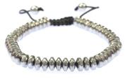Magnetic Silver Disc Shape Hematite Bracelet - Good for Healing and Energy -or Arthritis Pain Releif - 91037