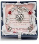 Love, Grandmother, Forever Silver & Crystal Expressively Yours Bracelet