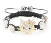 Hello Kitty Inspired Shamballa Bracelet in White