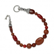 Relios Sterling Silver Red Multi-Gemstone Beaded Bracelet