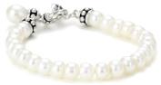 "Honora ""Pallini"" White Freshwater Cultured Pearl Drop Charm Toggle Bracelet, 19.7cm"