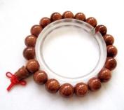 Tibetan Buddhist Goldstone Beads Wrist Mala for Meditation Bracelet