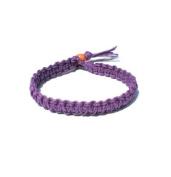 Purple Surfer Hawaiian Style Hemp Bracelet - Handmade