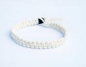 White Surfer Hawaiian Style Hemp Bracelet - Handmade