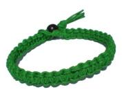 Green Surfer Hawaiian Style Stackable Hemp Bracelet - Handmade