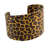 Leopard Print Paper Art Metal Cuff Bracelet