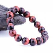 O-stone Natural Tiger Eye Bracelet 10mm Meditation Mala Grounding Stone Protection