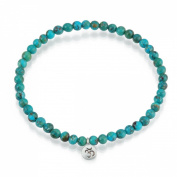 "Satya Jewellery ""Inner Peace Turquoise Stretch"" Sterling Silver Bracelet"