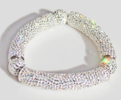 Stretch Bracelet with Brilliant Crystals - Clear