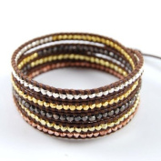 Chan Luu Mixed Nugget Wrap on Brown Leather