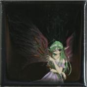 Bouqet Fairy Square Button