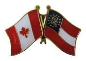 Georgia - Canada Friendship Lapel Pin