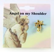 6030079 Guardian Angel Lapel Pin Brooch Tack Pin Christian Religious Jewellery