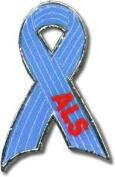 ALS Lou Gehrig's Disease Ribbon Pin
