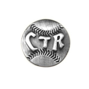 LDS Baseball CTR Choose the Right Steel Tie Tack with Silver Finish- Tie Pin, LDS Missionary, Priesthood Gift, Baptism Gift