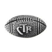 LDS Football CTR Choose the Right Steel Tie Tack with Silver Finish- Tie Pin, LDS Missionary, Priesthood Gift, Baptism Gift