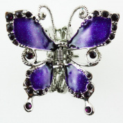 Butterfly Hair Clip - Silver Butterfly Hair Accessory