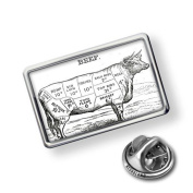 """Pin """"Beef / Butcher cuts"""" - Lapel Badge - NEONBLOND"""