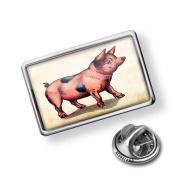 "Pin ""Pink Pig, Vintage"" - Lapel Badge - NEONBLOND"