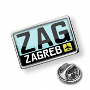 """Pin """"Airport code """"ZAG / Zagreb"""" country"""