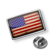 """Pin """"USAFlag with a vintage look"""" - Lapel Badge - NEONBLOND"""