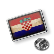 """Pin """"CroatiaFlag with a vintage look"""" - Lapel Badge - NEONBLOND"""