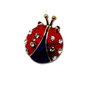 Patriotic Ladybug Pin