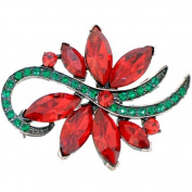Christmas Poinsettia Flower Pin Brooch