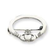 Sterling Silver Claddagh Pin - JewelryWeb