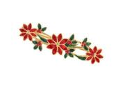 Elegantly styled poinsettia bar brooch