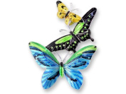 Tropical Butterflies Sterling Silver and Enamel Pin