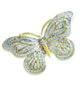 Annaleece Madame Butterfly Brooch Made with. Elements