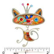 Ginger Cat with Crown Pin from the Artazia Collection #829 NP