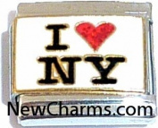 I Love New York Italian Charm Bracelet Jewellery Link