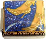 High Heel Shoe Italian Charm Bracelet Jewellery Link