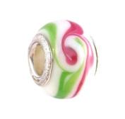 Pandora Style Charm Bead (Z116) Murano Style / Lampwork Glass (14mm x 10mm)