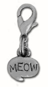Clayvision Meow Cat Charm Zipper Pull for bracelets and decoration
