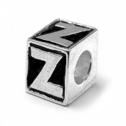"Letter ""Z"" Alphabet Charm By Olympia - Compatible with Pandora & Troll Bracelets"